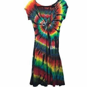 Tie dye dress a line dharma